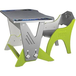 Набор мебели Интехпроект Техно серебристый лайм 14-461 набор детской мебели интехпроект трансформер розовый