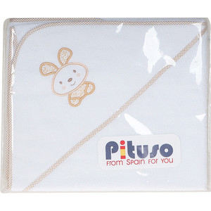 Пеленка для купания махровая Pituso на лужайке бежевый (лб-п 11)