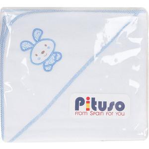 Пеленка для купания махровая Pituso на лужайке голубой (лг-п 11)