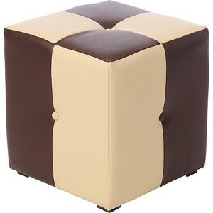 Пуф Мебельстория Рубио-1 коричнево-бежевый