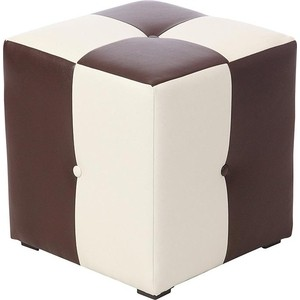 Пуф Мебельстория Рубио-1 коричнево-белый