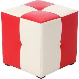 Пуф Мебельстория Рубио-1 красно-белый