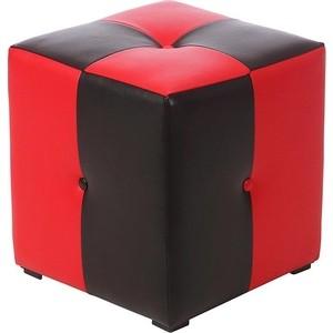 Пуф Мебельстория Рубио-1 красно-черный