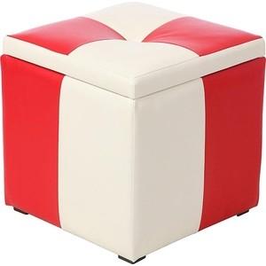 Пуф Мебельстория Рубио-2 красно-белый