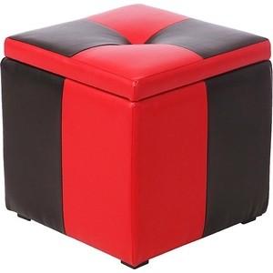 Пуф Мебельстория Рубио-2 красно-черный