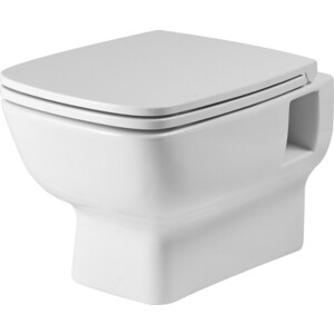 Унитаз подвесной Santek Нео безободковый, сиденье дюропласт, микролифт (1WH302411)