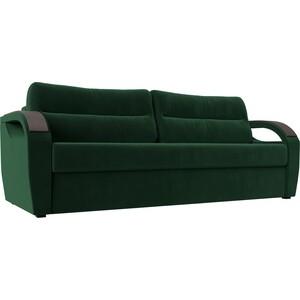 Прямой диван Лига Диванов Форсайт велюр MR зеленый прямой диван лига диванов кэдмон велюр зеленый