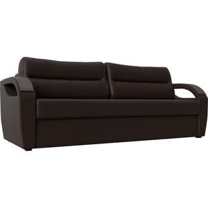 Диван Лига Диванов Форсайт экокожа коричневый прямой диван лига диванов милтон экокожа коричневый прямой