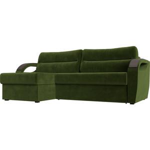 Угловой диван Лига Диванов Форсайт микровельвет зеленый левый угол угловой диван лига диванов форсайт микровельвет зеленый правый угол