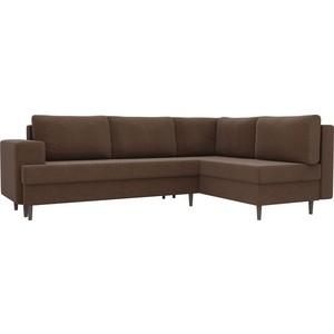 Угловой диван Лига Диванов Сильвана рогожка коричневый правый угол угловой диван лига диванов пауэр рогожка коричневый правый угол