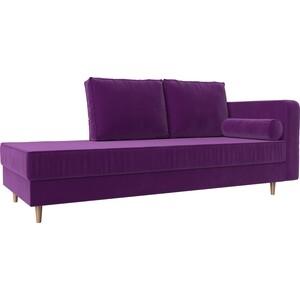 Кушетка Лига Диванов Прайм микровельвет фиолетовый правый угол кушетка лига диванов прайм микровельвет бежевый правый угол