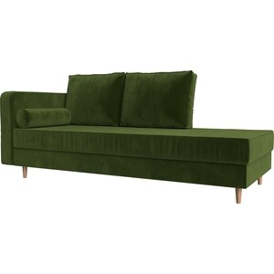 Кушетка Лига Диванов Прайм микровельвет зеленый левый угол кушетка лига диванов прайм микровельвет бежевый правый угол