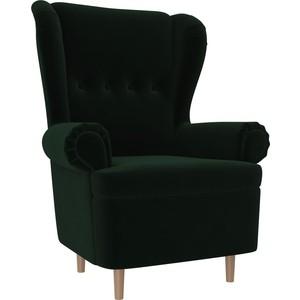Кресло АртМебель Торин велюр зеленый