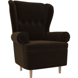 Кресло АртМебель Торин велюр коричневый