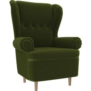 Кресло АртМебель Торин микровельвет зеленый