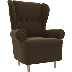 Кресло АртМебель Торин микровельвет коричневый