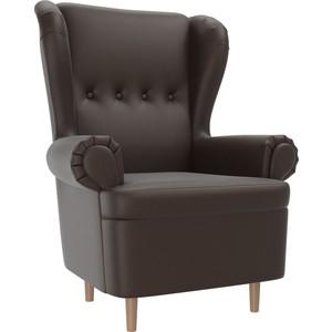 Кресло АртМебель Торин экокожа коричневый