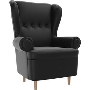 Кресло АртМебель Торин экокожа черный