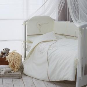 лучшая цена Комплект в кроватку Perina Le Petit Bebe 3 предмета Молочно-кофейный