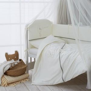 Комплект в кроватку Perina Le Petit Bebe 3 предмета Молочно-оливковый комплект постельного белья perina фея 3 предмета розовый лето ф3 01 3