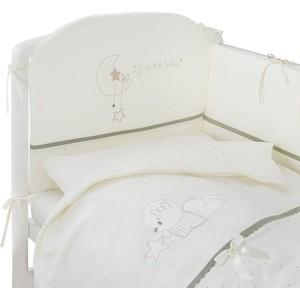 цена на Комплект в кроватку Perina Le Petit Bebe 4 предмета Молочно-кофейный