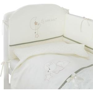Комплект в кроватку Perina Le Petit Bebe 6 предметов Молочно-оливковый