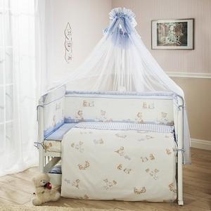 Комплект в кроватку Perina Тиффани 7 предметов Неженка Розовая