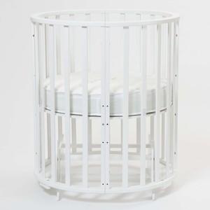 цены Кроватка Mr Sandman Round Универсальная с маятником (9 в 1) Белый