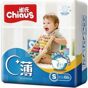 Подгузники Chiaus Pro Core Ultra Thin размер S (3-6 кг) 66 шт