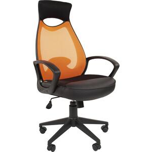 Офисноекресло Chairman 840 черный пластик TW-66 оранжевый
