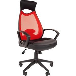 Офисноекресло Chairman 840 черный пластик TW-69 красный