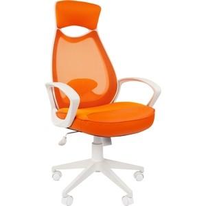 Офисноекресло Chairman 840 белый пластик TW16/TW-66 оранжевый цена 2017
