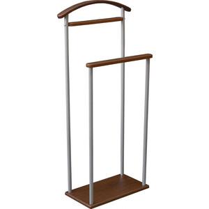 цена Вешалка костюмная Мебелик Верис 4 металлик/средне-коричневый онлайн в 2017 году