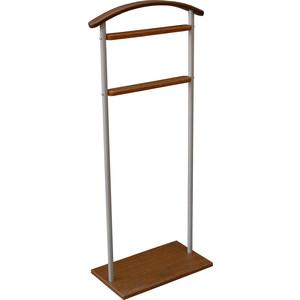 Вешалка костюмная Мебелик Верис 5 металлик/средне-коричневый