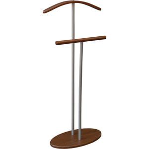 Вешалка костюмная Мебелик Дэви 2 металлик/средне-коричневый