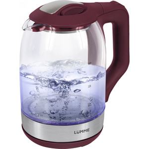 Чайник электрический Lumme LU-143 бордовый гранат чайник электрический lumme lu 143 бордовый гранат