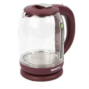 Чайник электрический Marta MT-1096 бордовый гранат цена