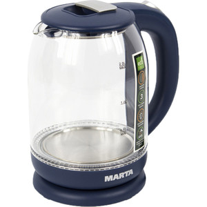 Чайник электрический Marta MT-1096 серебряный сапфир чайник электрический marta mt 1096 серебряный сапфир