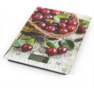 Весы кухонные Marta MT-1634 садовая вишня