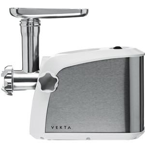 Мясорубка VEKTA MGS-1801 стальной/белый