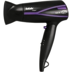 Фен BBK BHD1608i черный/фиолетовый фен bbk bhd3221i черный фиолетовый bhd3221i черный фиолетовый