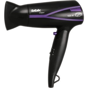 Фен BBK BHD1608i черный/фиолетовый цена