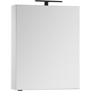 Зеркальный шкаф Aquanet Алвита 70 с светильником, белый (184038, 178249) aquanet алвита 70 2 выдвижных ящика белый 184302