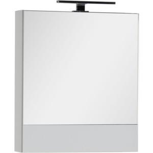 Зеркальный шкаф Aquanet Верона 58 с светильником, белый (175344, 179947)