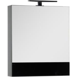 Зеркальный шкаф Aquanet Верона 58 с светильником, черный (175384, 179947)