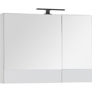 Зеркальный шкаф Aquanet Верона 90 с светильником, белый (172339, 179947)