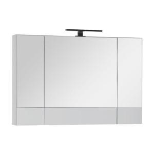 цены на Зеркальный шкаф Aquanet Верона 100 с светильником, белый (175383, 179947)  в интернет-магазинах
