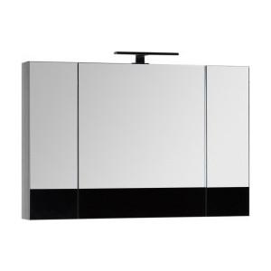 Зеркальный шкаф Aquanet Верона 100 с светильником, черный (175386, 179947)