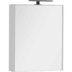 Зеркальный шкаф Aquanet Латина 60 с светильником, белый (179942, 178249)
