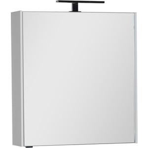 Зеркальный шкаф Aquanet Латина 70 с светильником, белый (179997, 178249)